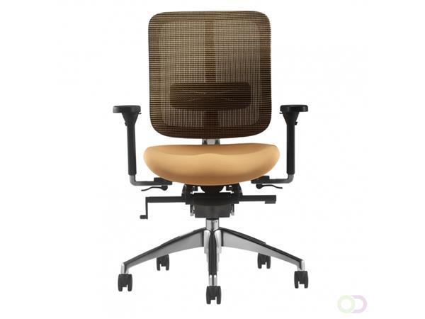 Bureaustoel Zoom oranje stof